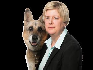 Paula Hale and Dog